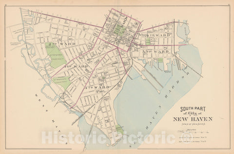 Historic Map : New Haven 1893 , Town and City Atlas State of Connecticut , Vintage Wall Art