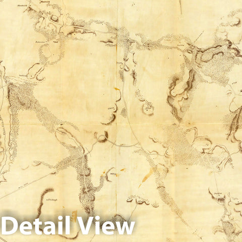 Historic Map : Part of the North Bank of the Rappahannock River. 1862 - Vintage Wall Art