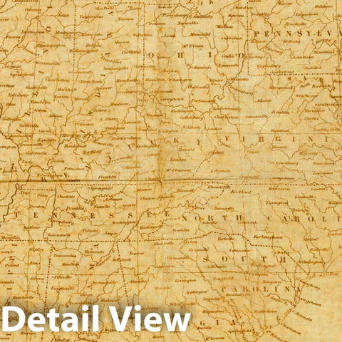Historic Map : the United States, from the latest surveys, 1841 - Vintage Wall Art