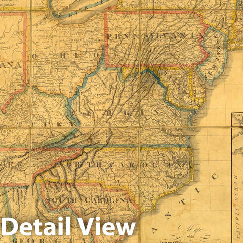 Historic Map : Map of the United States, 1817 - Vintage Wall Art