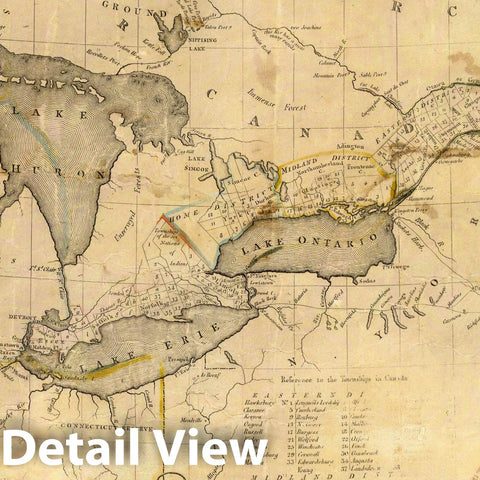 Historic Map : This map of Upper and Lower Canada and United States, 1812 - Vintage Wall Art