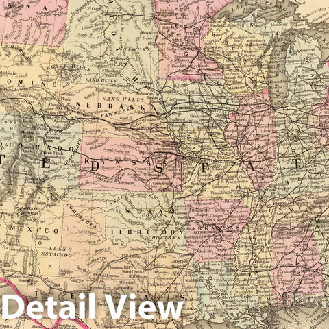 Historic Map : 1880 United States. - Vintage Wall Art