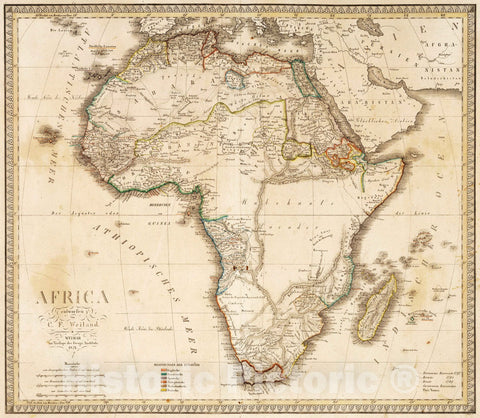 Historic Map : 1821 XLVIII. Africa. - Vintage Wall Art