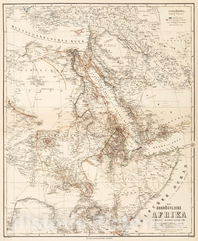 Historic Map : 1886 East Africa. - Vintage Wall Art