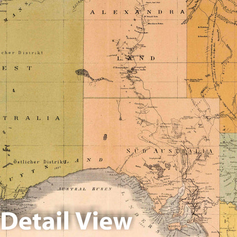 Historic Map : 1886 Australia. v1 - Vintage Wall Art