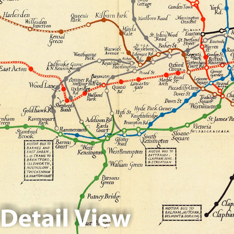 Historic Map : London's Underground, 1922 Pictorial Map - Vintage Wall Art