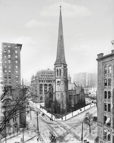 Historic Black & White Photo - Buffalo, New York - St. Paul's Cathedral, c1908 -