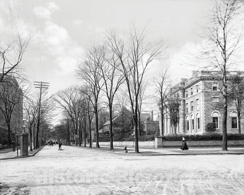 Historic Black & White Photo - Buffalo, New York - Outside the William Butler Mansion, c1905 -