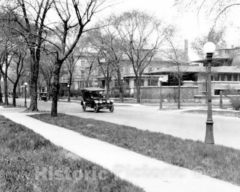 Historic Black & White Photo - Chicago, Illinois - The Robie House, c1925 -