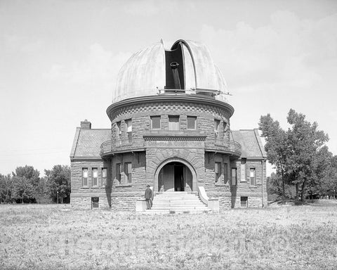 Historic Black & White Photo - Denver, Colorado - Chamberlin Observatory, c1905 -