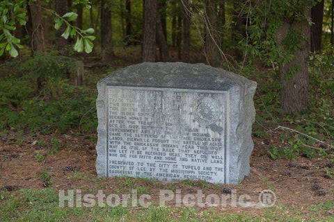 Photo- A Marker, Found Near Tupelo, Mississippi, at a pulloff from The Natchez Trace Parkway, a 444-mile-long Scenic Road from Natchez, Mississippi, to Nashville, Tennessee