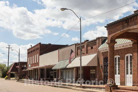 Photo - Downtown Block in Marks, Mississippi- Fine Art Photo Reporduction
