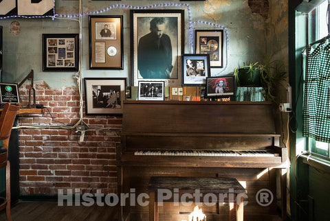 Photo - What Appears to be a Well-Played Piano in a Corner of The Hollywood Cafe in The Settlement of Hollywood, Near Tunica, Mississippi- Fine Art Photo Reporduction