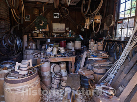 Photo - Dinsmore Shop Cooperage at The Strawbery Banke Outdoor History Museum Located in The South End Historic District of Portsmouth, New Hampshire- Fine Art Photo Reporduction