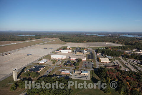 Photo - Aerial View of Small Airport in Portsmouth, New Hampshire- Fine Art Photo Reporduction