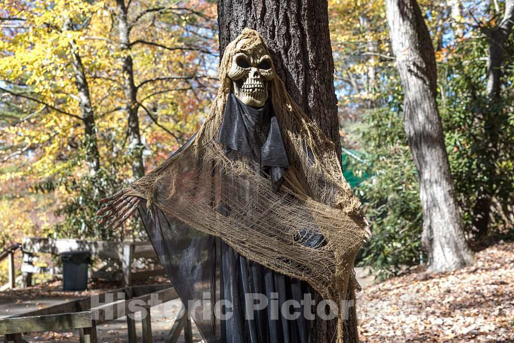 Photograph - Ghostly Figure,one of Several Spooky specters positioned for The American Halloween Season on The Grounds of The Hickory Ridge Living History Museum in Boone, North Carolina 2