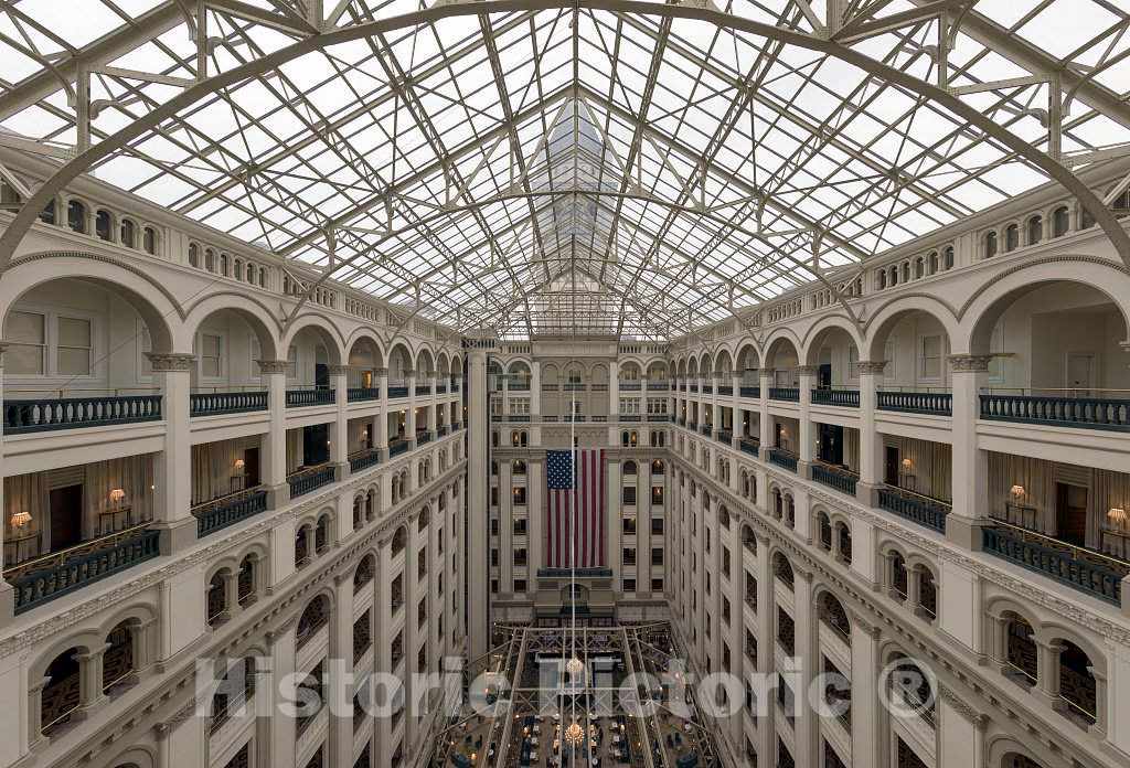Photo- Atrium. The Old Post Office and Clock Tower, Washington, D.C. 3 Fine Art Photo Reproduction