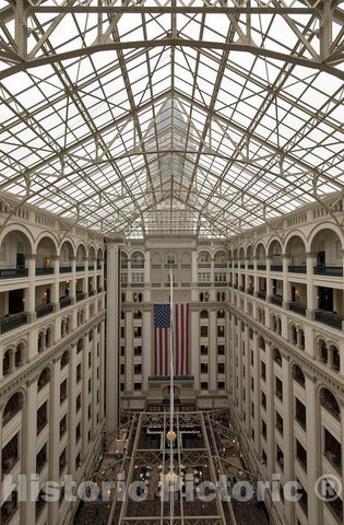 Photo- Atrium. The Old Post Office and Clock Tower, Washington, D.C. 1 Fine Art Photo Reproduction