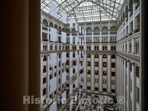 Photo- Atrium. The Old Post Office and Clock Tower, Washington, D.C. 5 Fine Art Photo Reproduction