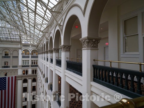Photo- Atrium. The Old Post Office and Clock Tower, Washington, D.C. 6 Fine Art Photo Reproduction