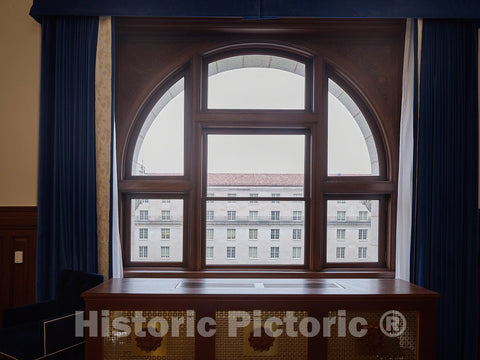 Photo - Window. The Old Post Office and Clock Tower, Washington, D.C.- Fine Art Photo Reporduction