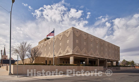 Photo- Joe Skeen Federal Building and U.S. Courthouse, Roswell, New Mexico 2 Fine Art Photo Reproduction