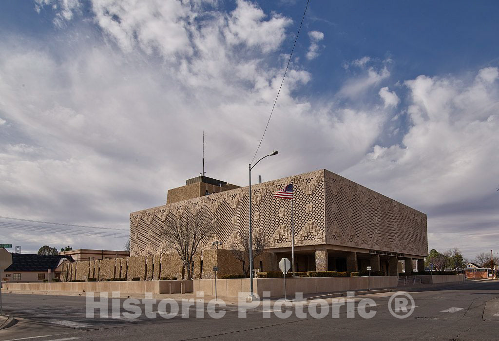 Photo- Joe Skeen Federal Building and U.S. Courthouse, Roswell, New Mexico 3 Fine Art Photo Reproduction