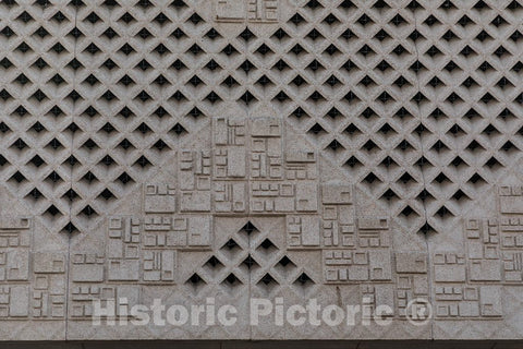 Photo - Architectural Details. Joe Skeen Federal Building and U.S. Courthouse, Roswell, New Mexico- Fine Art Photo Reporduction