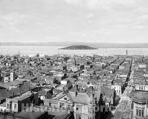 Historic Black & White Photo - San Francisco, California - View of the Bay, c1905 -