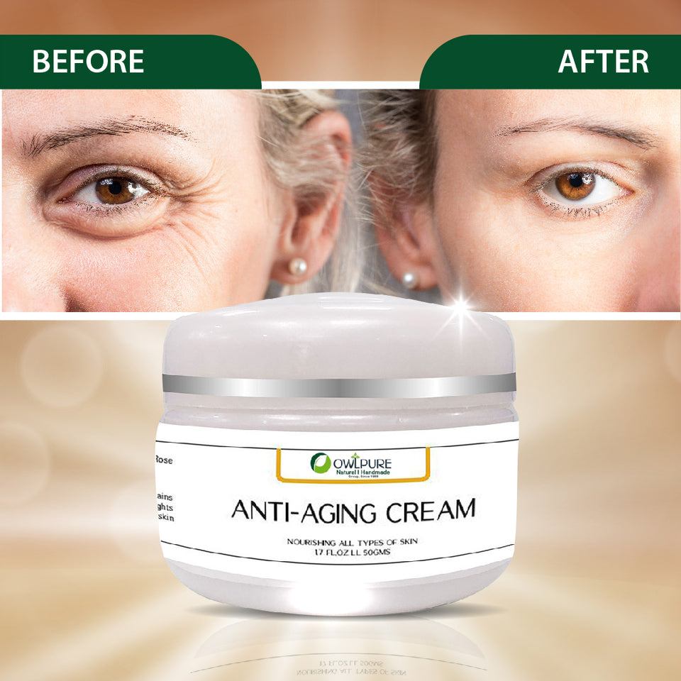 100% Natural & Organic Handmade Anti Aging Cream
