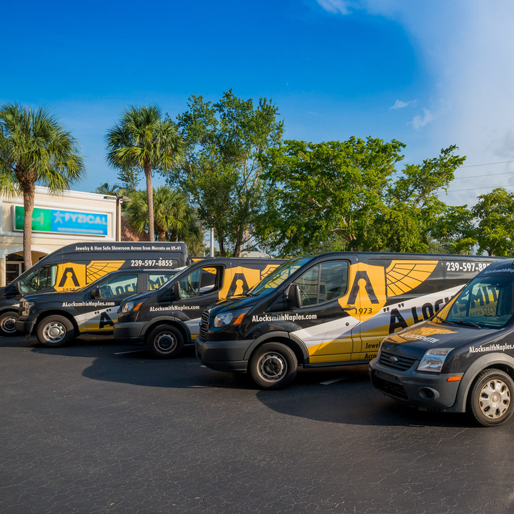 24/7 Naples Collier and Lee Mobile Locksmith Service Trucks