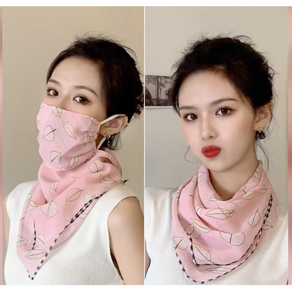 Scarf with Built in Face Covering