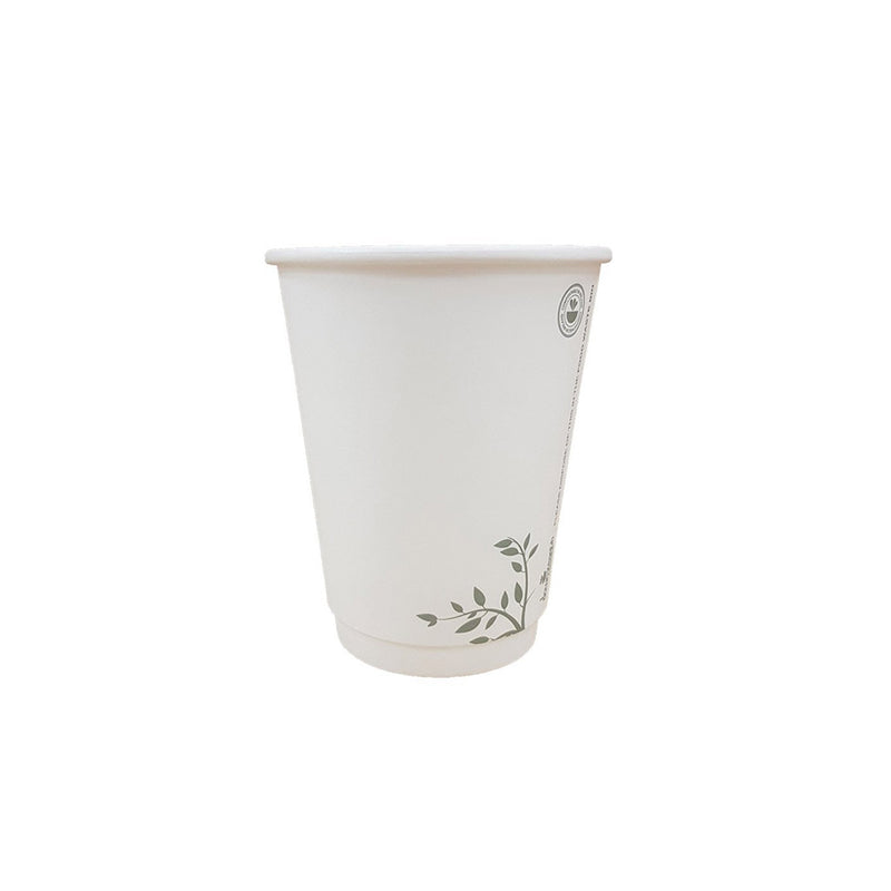 White Compostable Cups 12oz