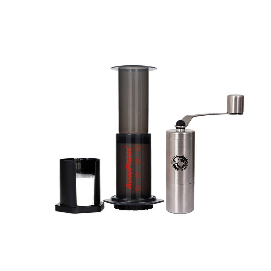 Aeropress Bundle With Rhino Compact Grinder