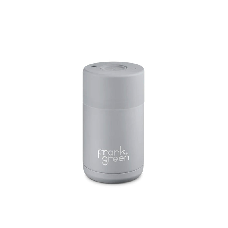 Frank Green Cup Harbour Mist Grey Ceramic Stainless Steel Cup 295ml