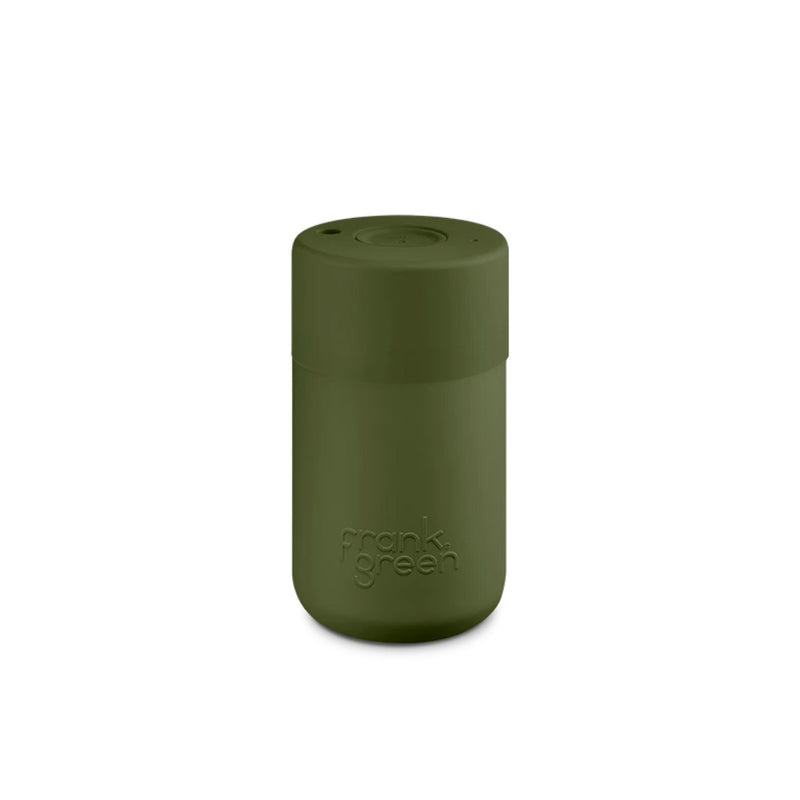 Frank Green Khaki Green Reusable Cup 340ml