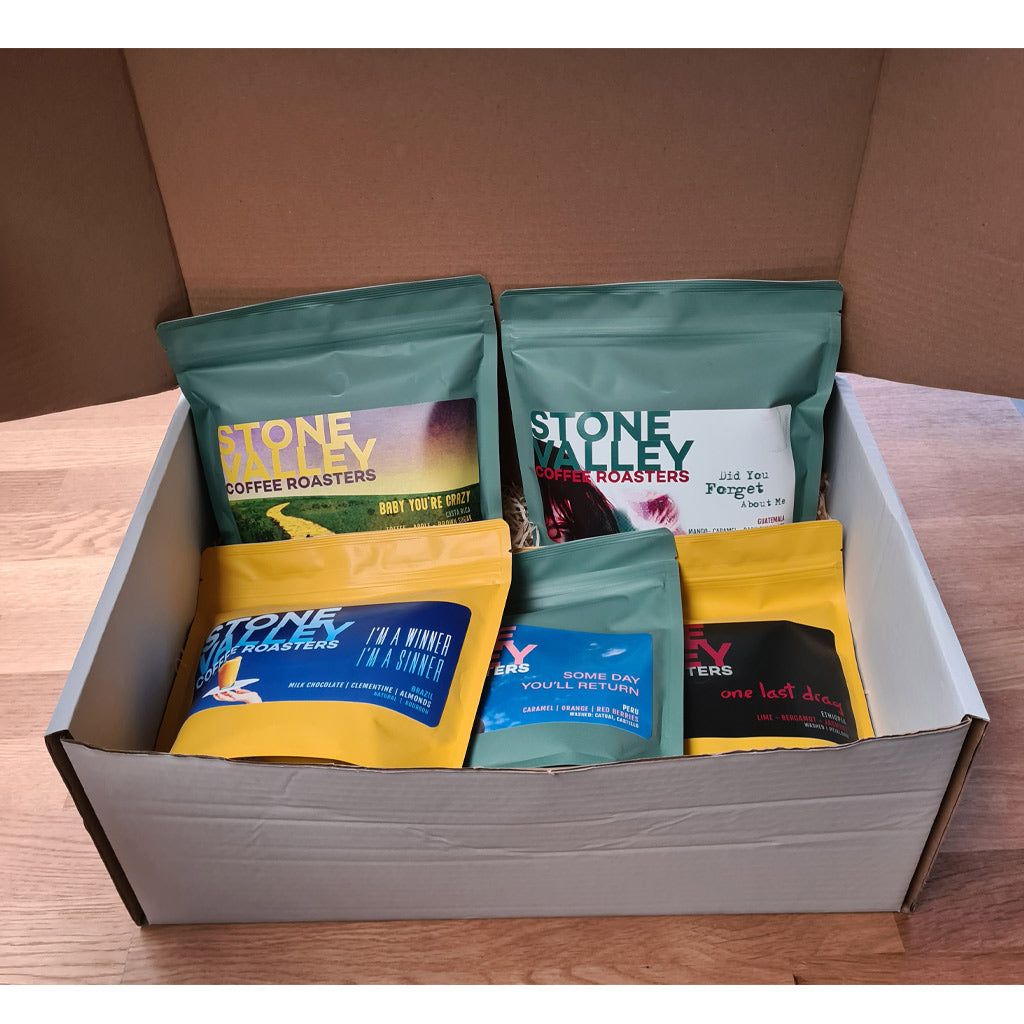 5 Pack Stone Valley Coffee Roasters Gift Box