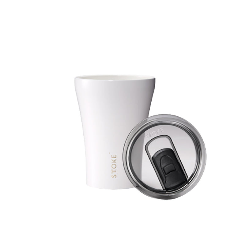 Sttoke 230ml Ceramic Reusable Cup Angel White