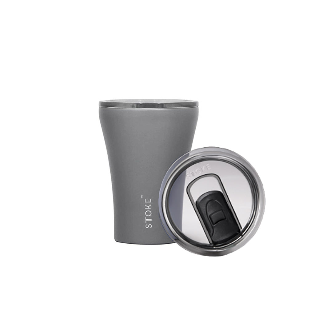 Sttoke 230ml Ceramic Reusable Cup Slated Grey