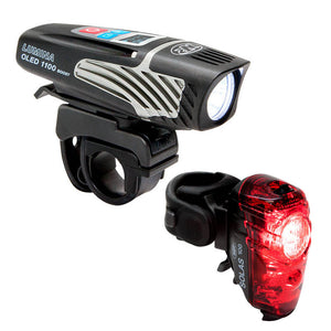 NiteRider Lumina OLED 1100 Boost & Solas 100 USB Rechargeable Light Set
