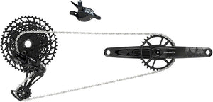 SRAM NX Eagle Groupset: 12-Speed Trigger Shifter, Rear Derailleur, 11-50 Cassette, Chain, & DUB 32T Crankset + $25.00 Gift Card with Purchase