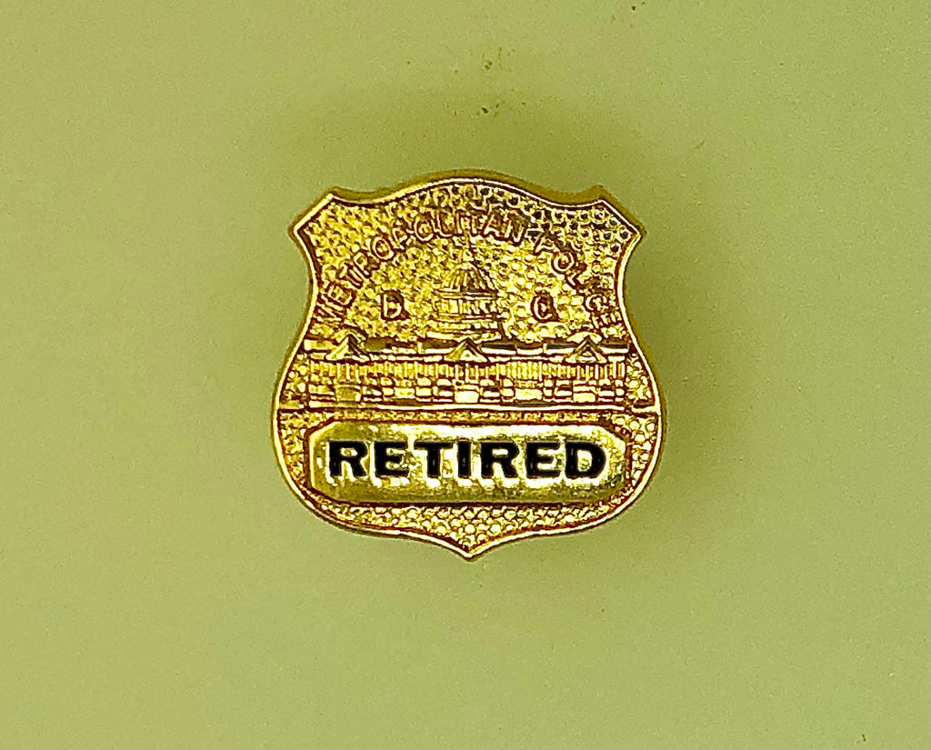 MPDC Retired Badge Lapel Pin