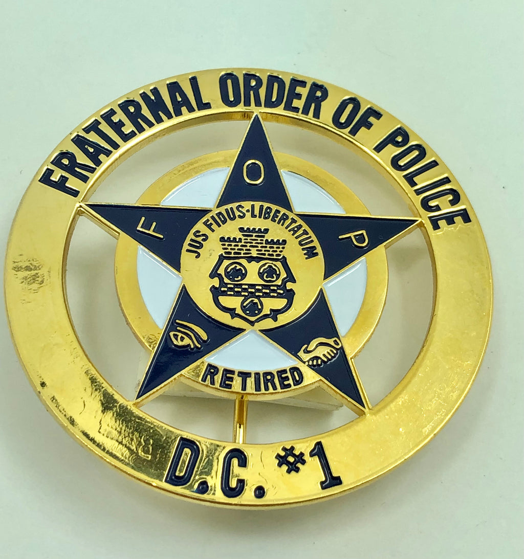 FOP DC #1 RETIRED Medallion Pin