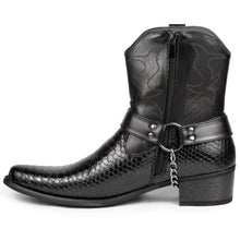 Load image into Gallery viewer, Metrocharm Diego-01 Men's Belt Buckle Chain Strap Western Cowboy Boot