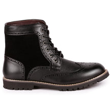 Load image into Gallery viewer, Metrocharm MC304 Men's Lace Up Wing Tip Oxford Boot