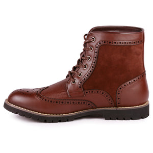 Metrocharm MC304 Men's Lace Up Wing Tip Oxford Boot