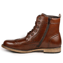 Load image into Gallery viewer, Metrocharm MC309 Men's Lace Up Wing Tip Dress Casual Fashion Oxford Boot