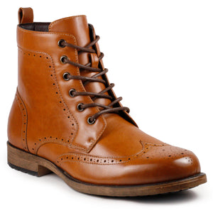 Metrocharm MC309 Men's Lace Up Wing Tip Dress Casual Fashion Oxford Boot