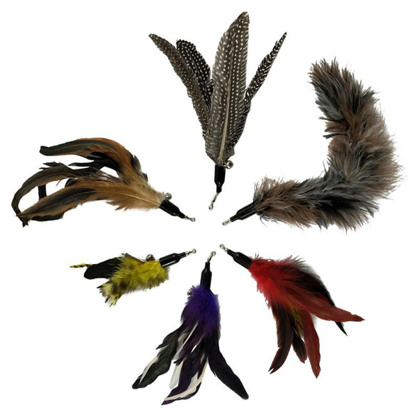 Feather Wand Attachments (6 pieces) - Pet Cache