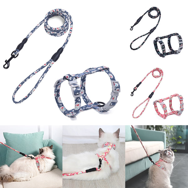 Adjustable Cat Harness and Leash - Pet Cache